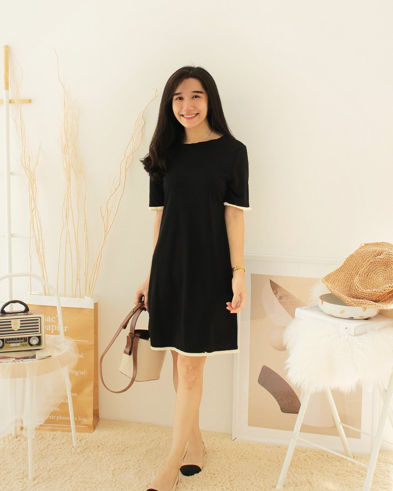 Zane Black Dress - LovelyMadness Clothing Online Fashion Malaysia