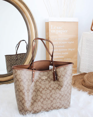 Coach Signature Reversible City Tote - LovelyMadness Clothing Online Fashion Malaysia