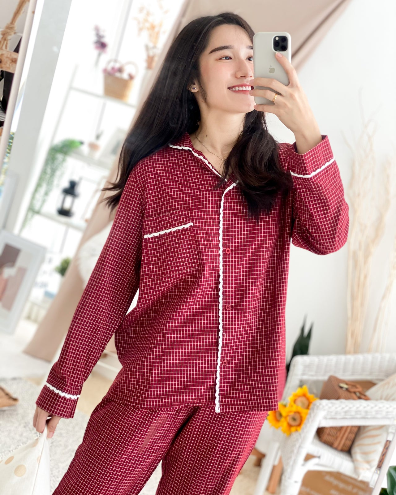 MAELIE Checkered Pyjamas