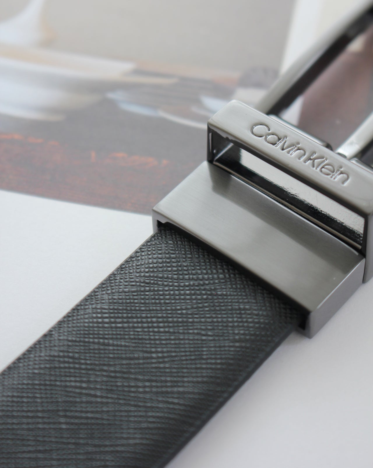 CALVIN KLEIN CROSSGRAIN REVERSIBLE BELT - LovelyMadness Clothing Malaysia