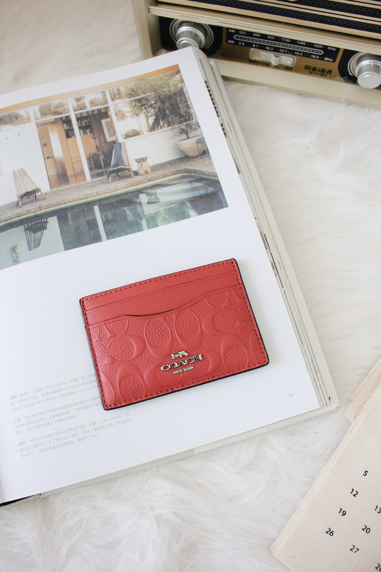 Coach NWT Flat Credit Card Case Leather - LovelyMadness Clothing Malaysia