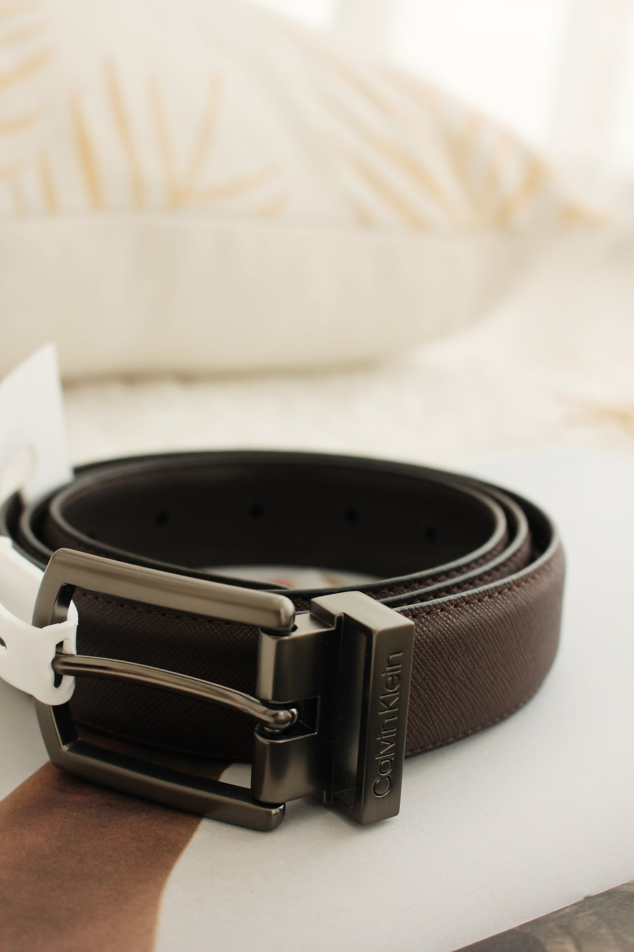 CALVIN KLEIN 30MM SAFFIANO BELT - LovelyMadness Clothing Online Fashion Malaysia