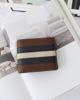 COACH 3-IN-1 WALLET WITH VARSITY STRIPE - LovelyMadness Clothing Online Fashion Malaysia