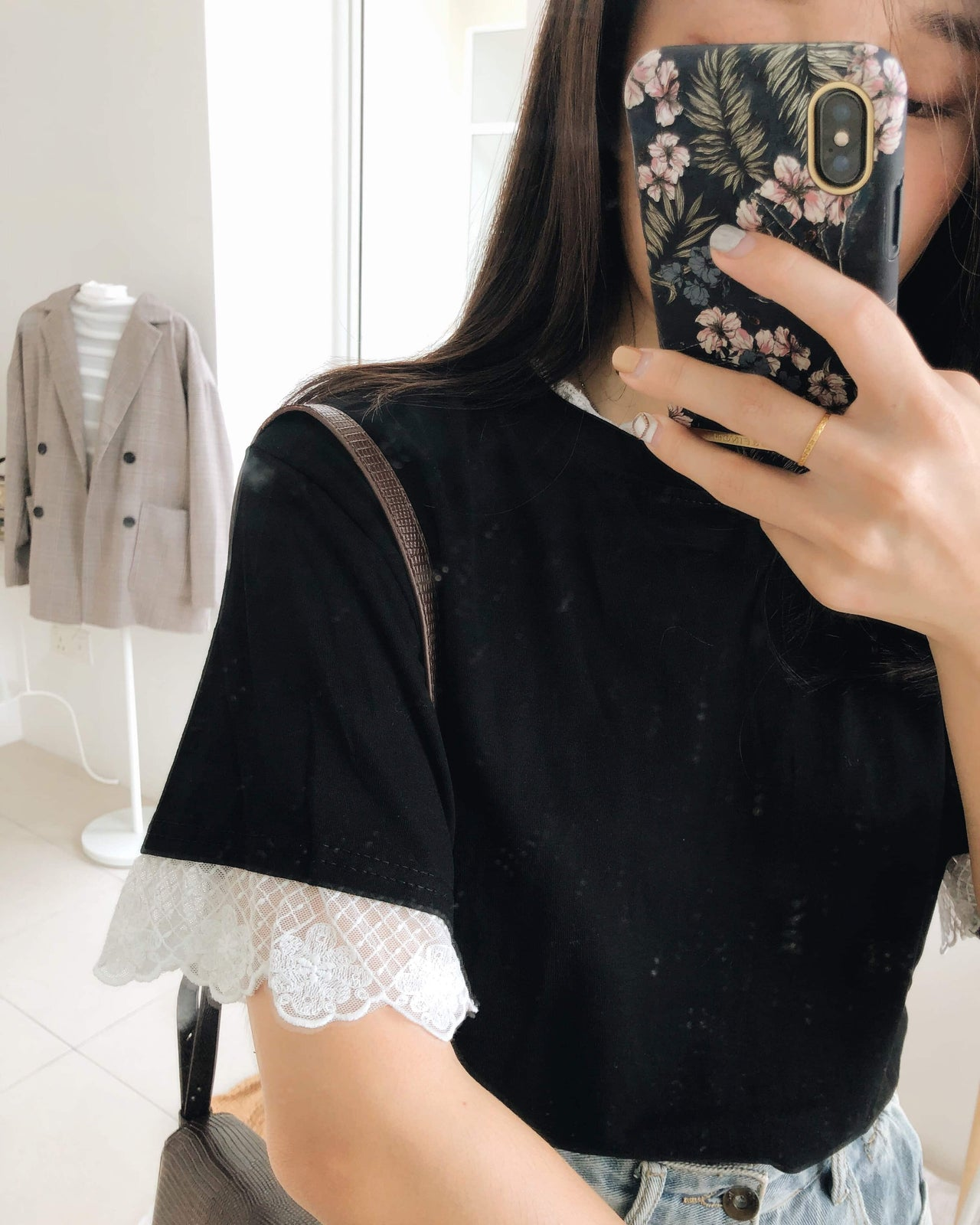Black Lace Top - LovelyMadness Clothing Online Fashion Malaysia