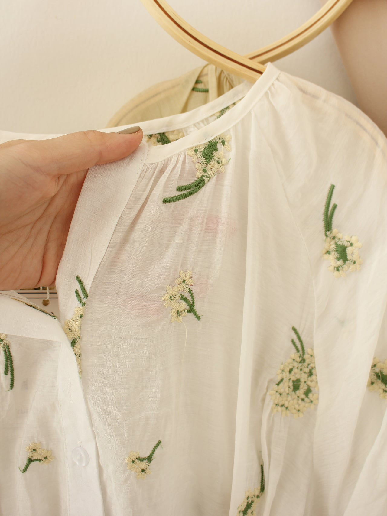 Summer Embroidery Blouse