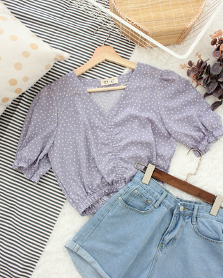 Purple Drawstring Top - LovelyMadness Clothing Online Fashion Malaysia