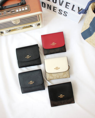 COACH SMALL WALLET IN SIGNATURE COATED CANVAS - LovelyMadness Clothing Online Fashion Malaysia