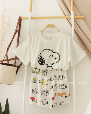 WHITE SNOOPY PYJAMAS