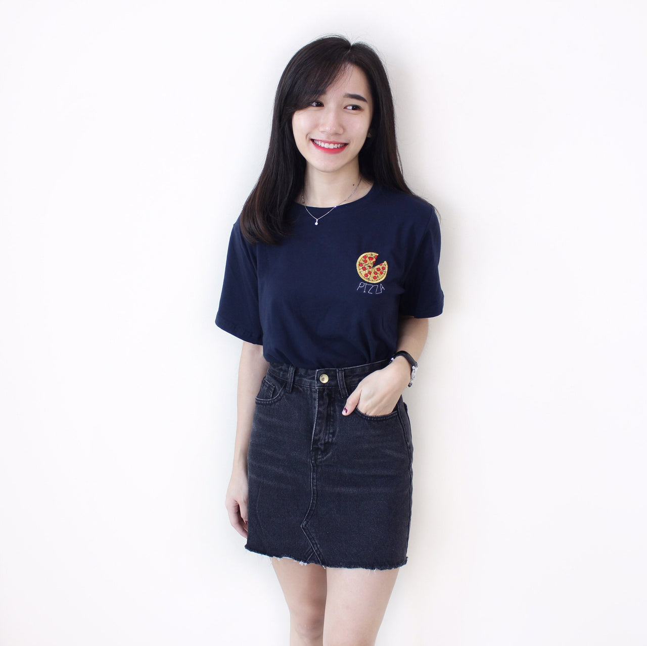 Denim Frayed Skirt - LovelyMadness Clothing Malaysia