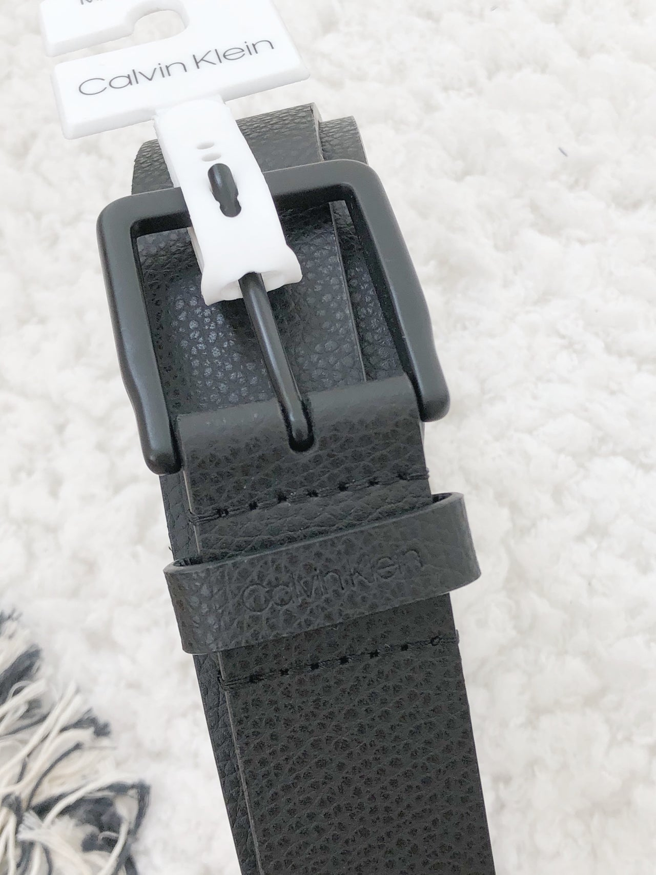 CALVIN KLEIN SQUARE BUCKET BELT