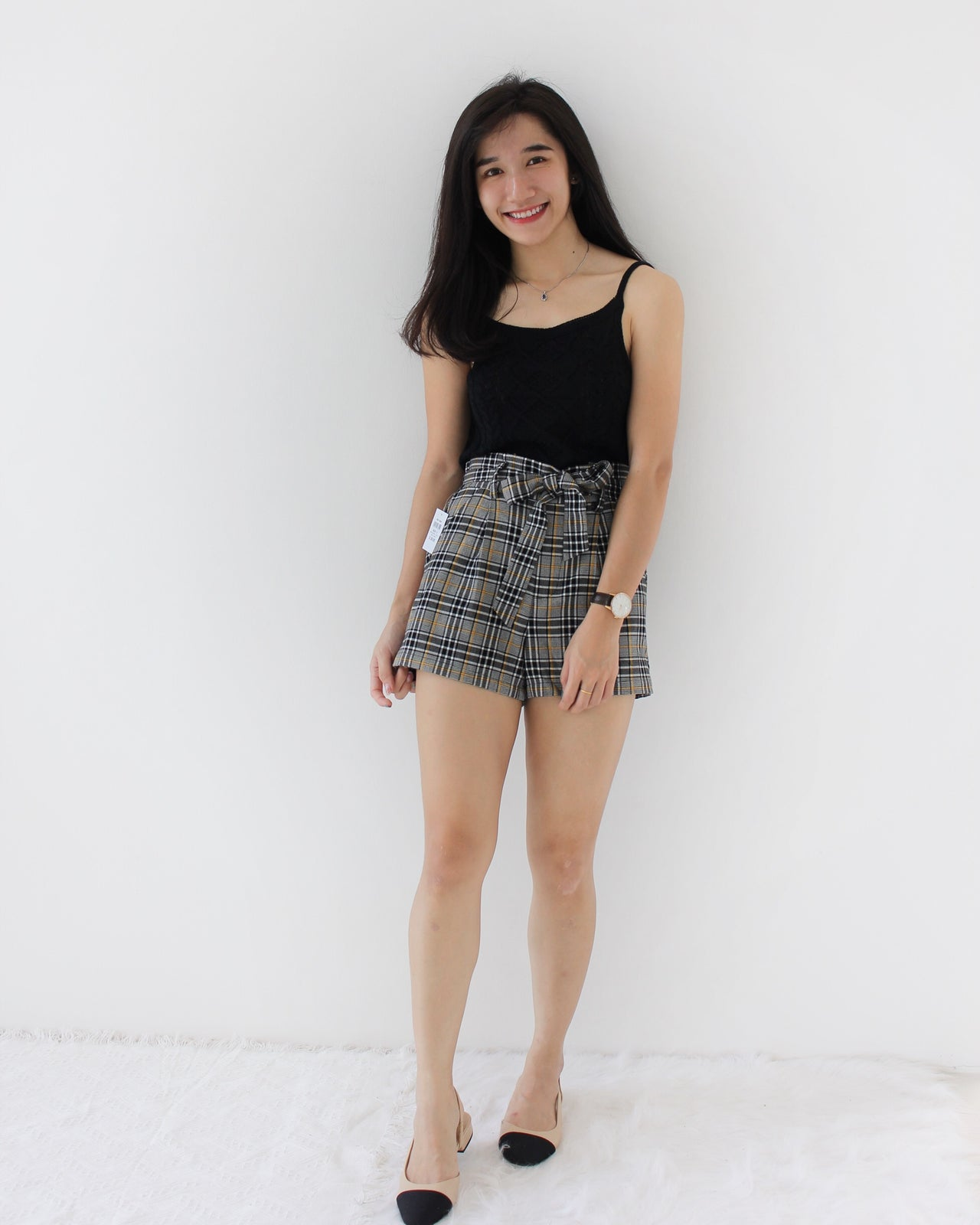 Houndstooth Short - LovelyMadness Clothing Online Fashion Malaysia