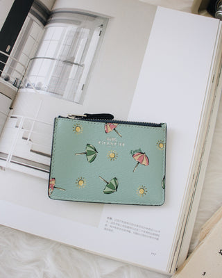 COACH MINI SKINNY ID CASE WITH BEACH UMBRELLA PRINT - LovelyMadness Clothing Online Fashion Malaysia
