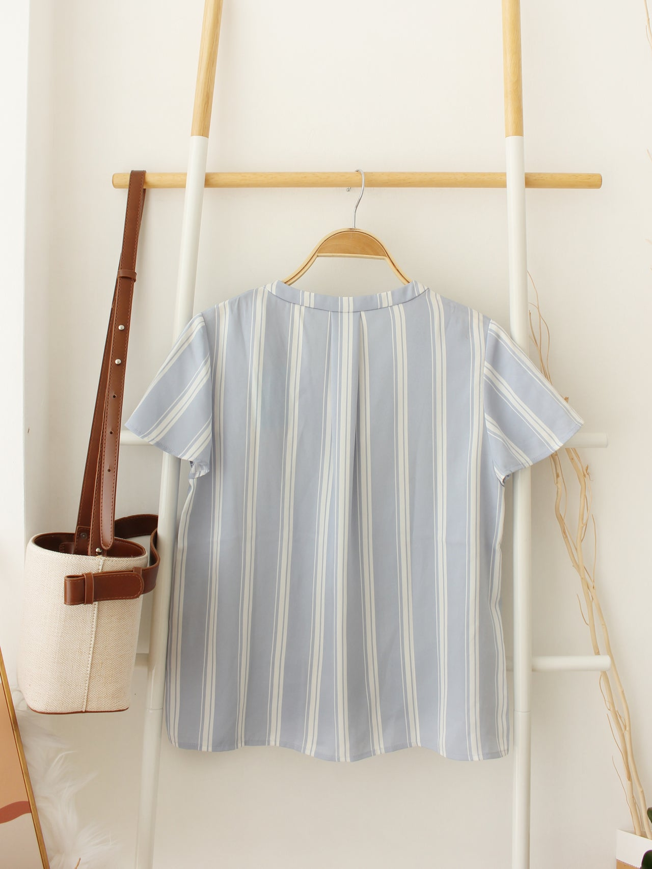 JAPAN Blue Stripe Top