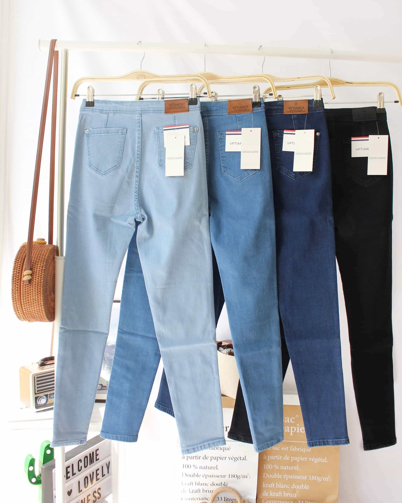High Waist Skinny Jeans - LovelyMadness Clothing Online Fashion Malaysia