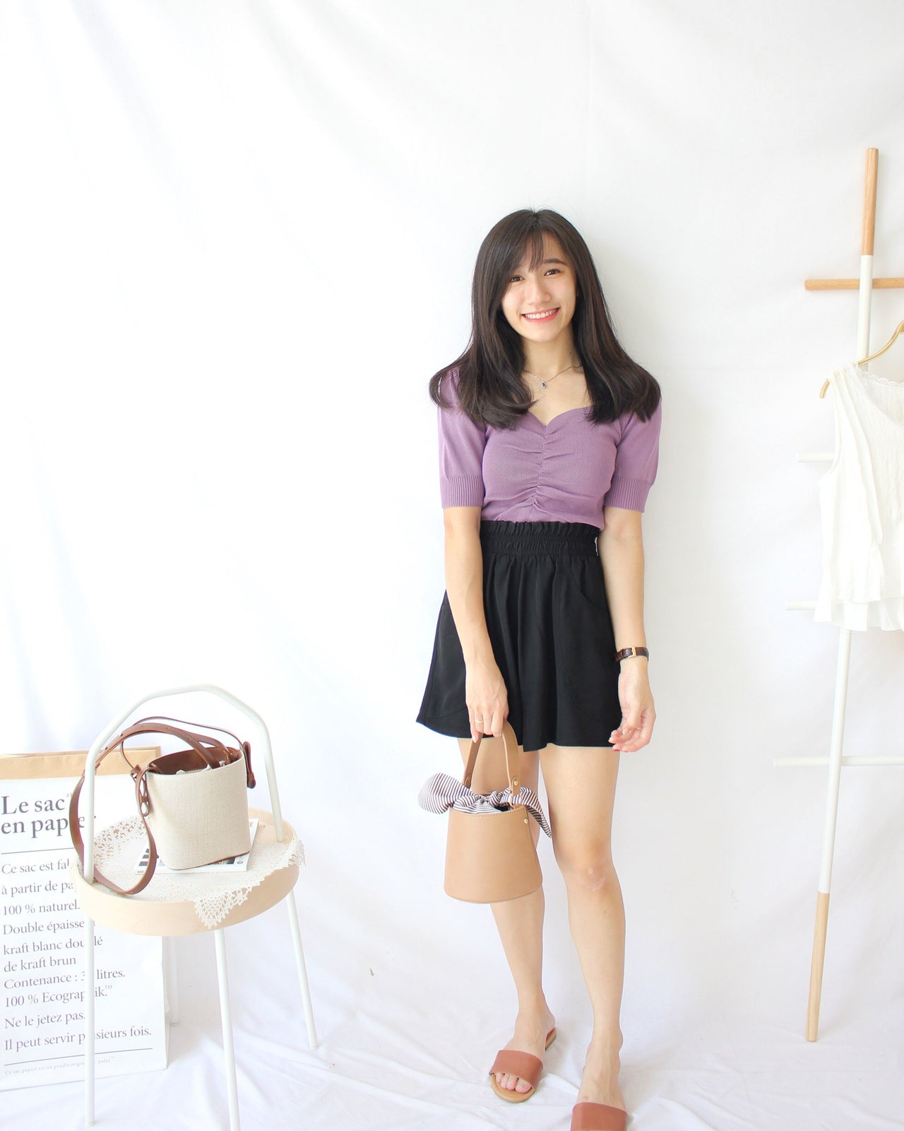 Puffy Knitted Drawstring - LovelyMadness Clothing Online Fashion Malaysia