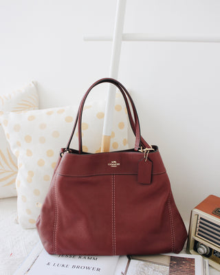COACH PEBBLED LEATHER LEXY SHOULDER BAG - LovelyMadness Clothing Online Fashion Malaysia