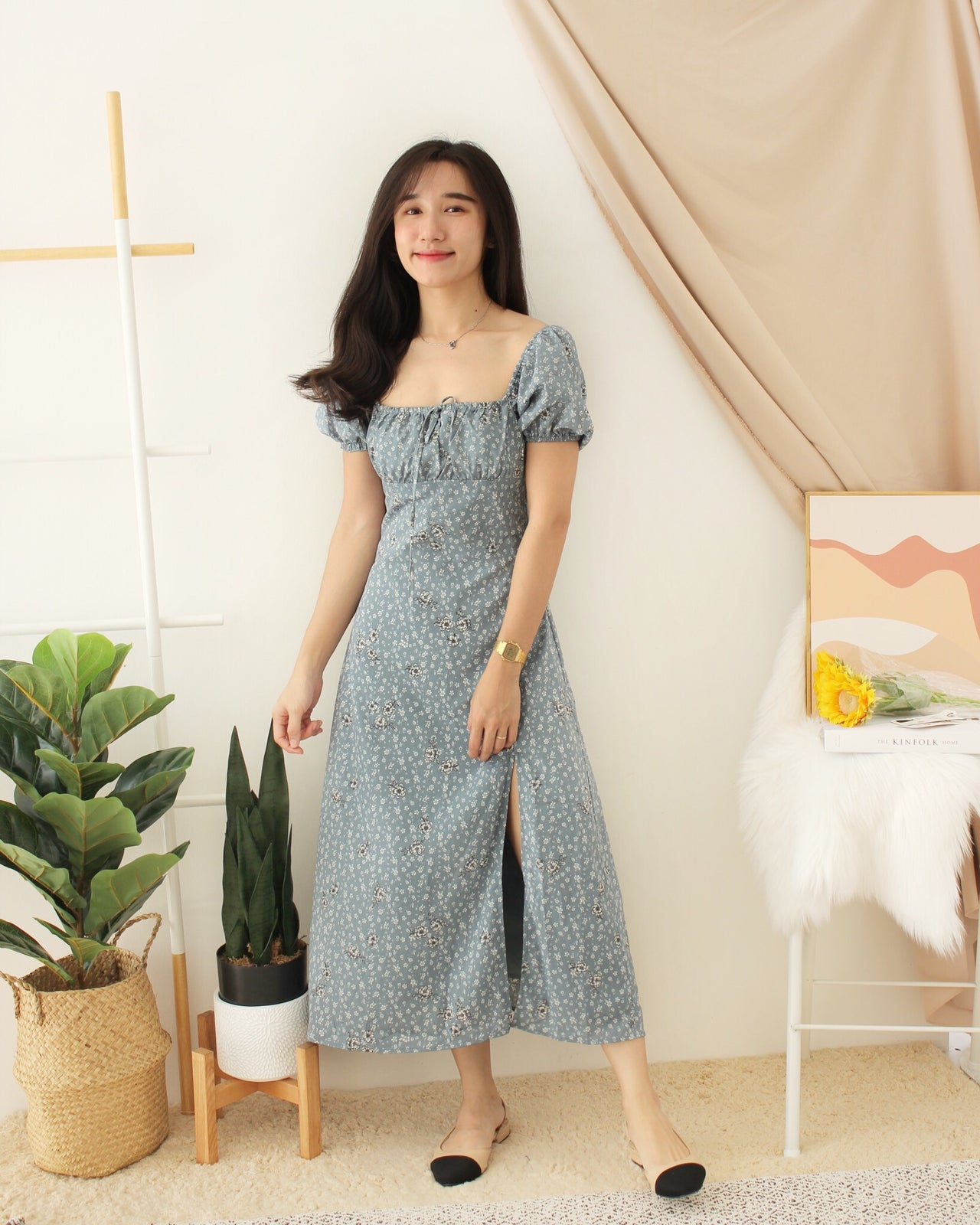 KINO Blue Floral Dress
