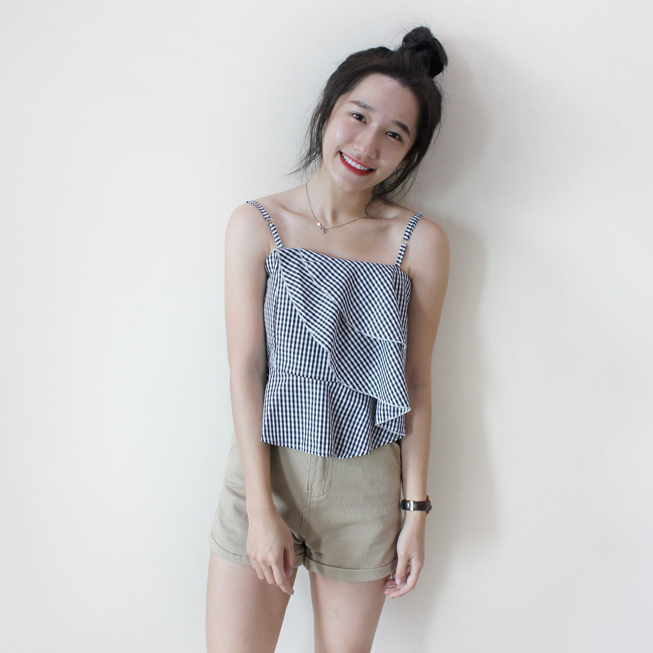Checkered Truffle Top - LovelyMadness Clothing Online Fashion Malaysia