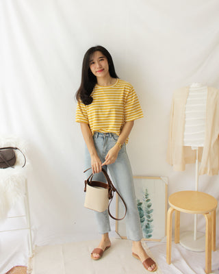 Loose Stripe Tee - LovelyMadness Clothing Online Fashion Malaysia