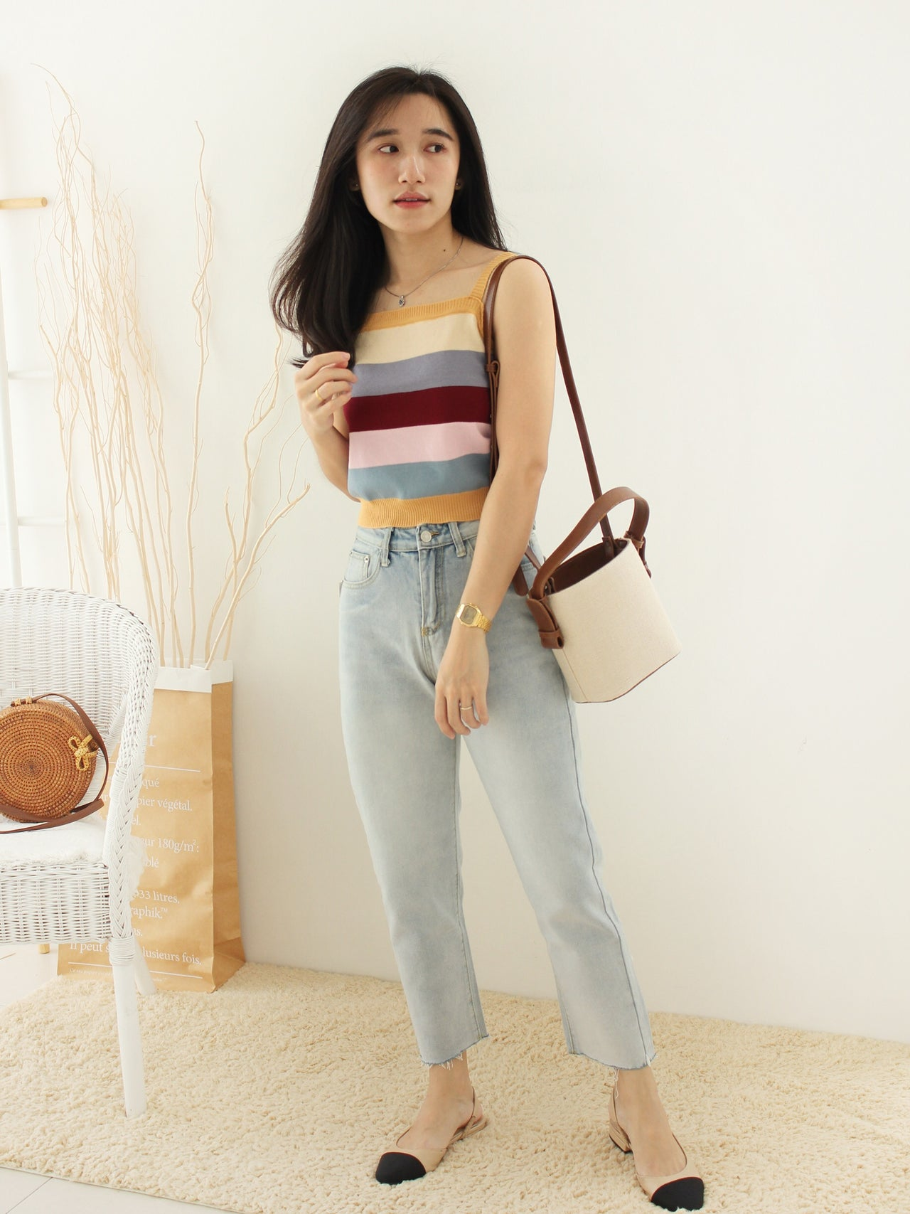 SUMMER Knitted Top - LovelyMadness Clothing Online Fashion Malaysia
