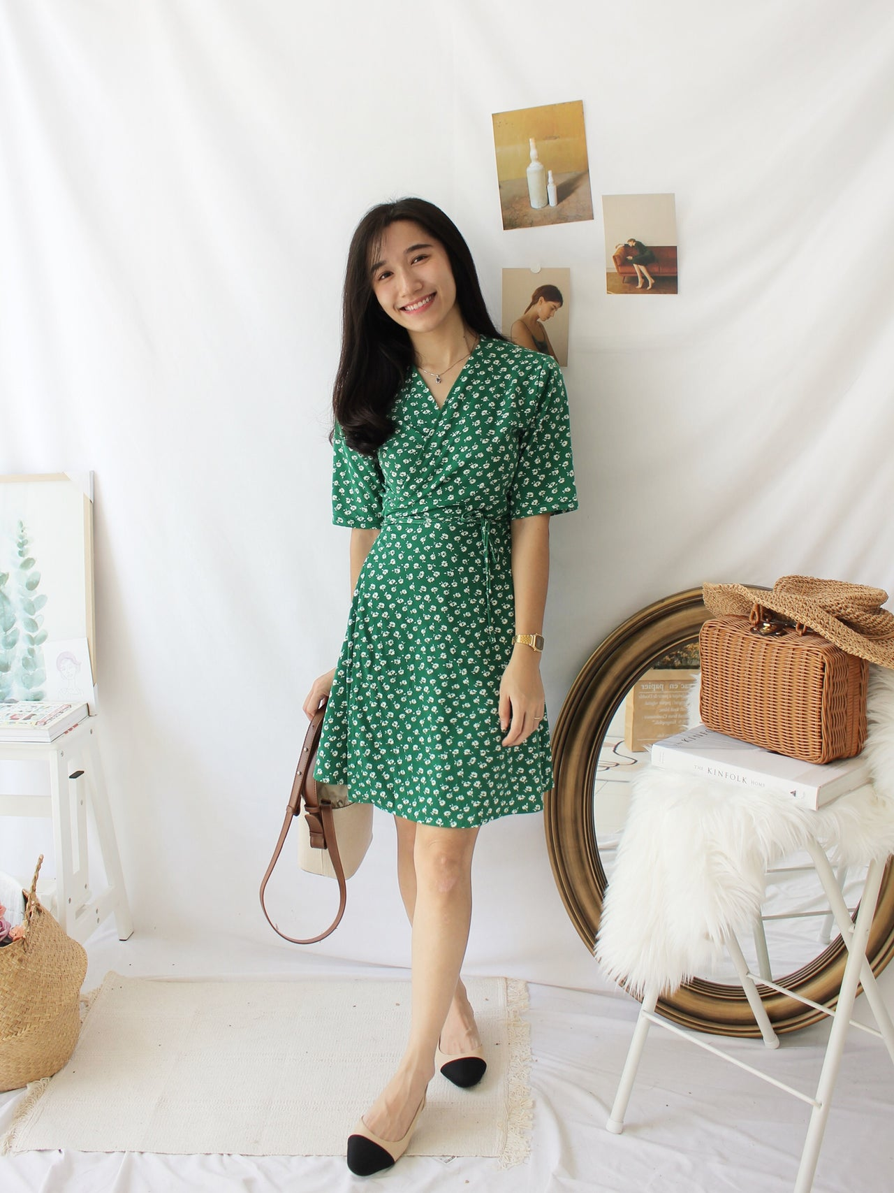 Green Floral Dress II