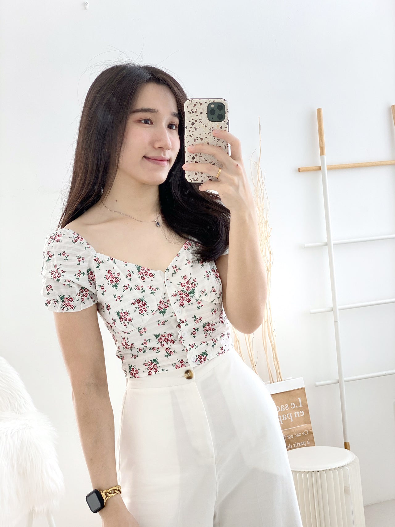 NLW Floral Puffy Top