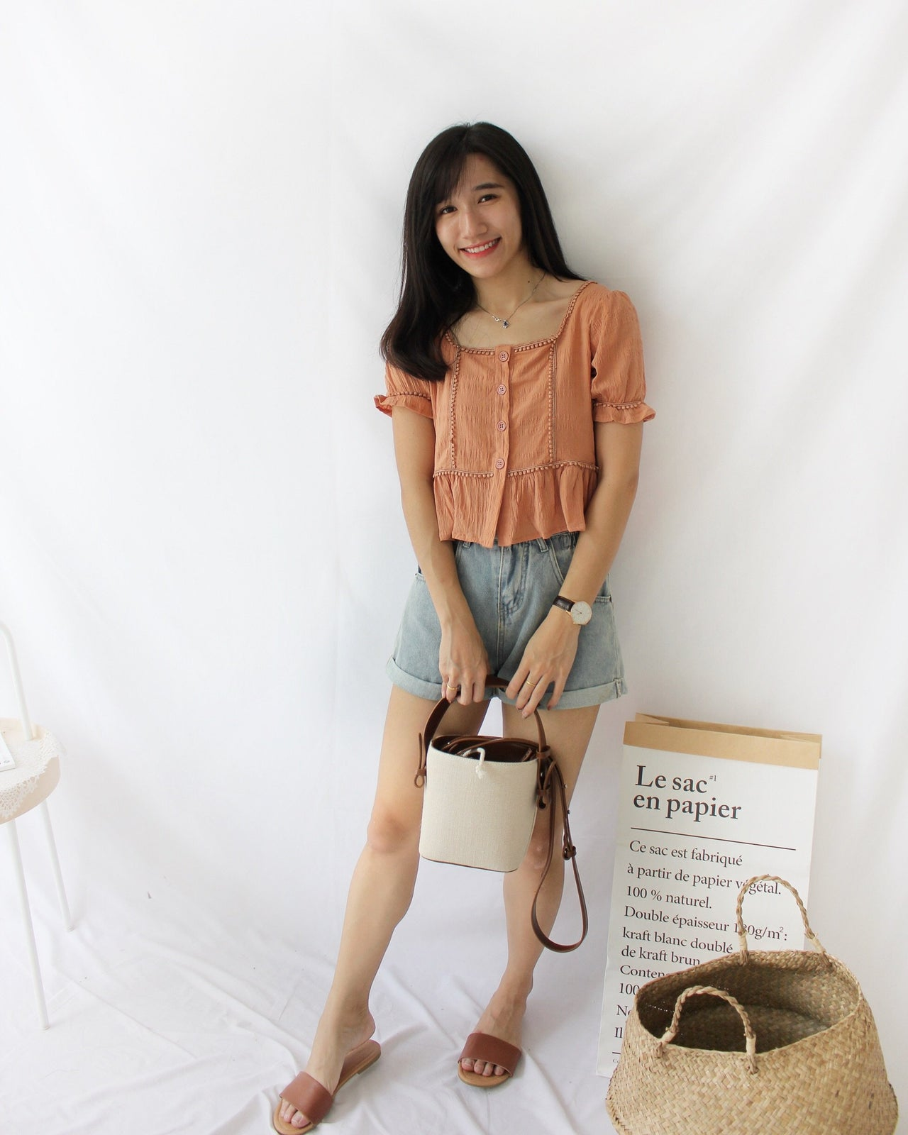 Crochet Truffle Dolly Top - LovelyMadness Clothing Online Fashion Malaysia