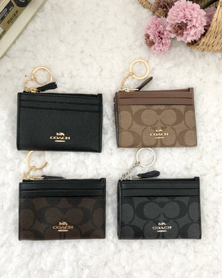 COACH MINI SKINNY ID CASE IN SIGNATURE CANVAS