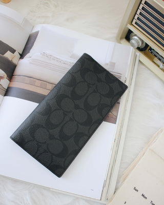 Men's Breast Pocket Signature Long Wallet - LovelyMadness Clothing Online Fashion Malaysia