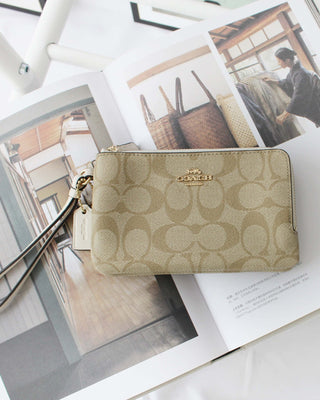 COACH DOUBLE CORNER ZIP WALLET IN SIGNATURE COATED CANVAS - LovelyMadness Clothing Online Fashion Malaysia