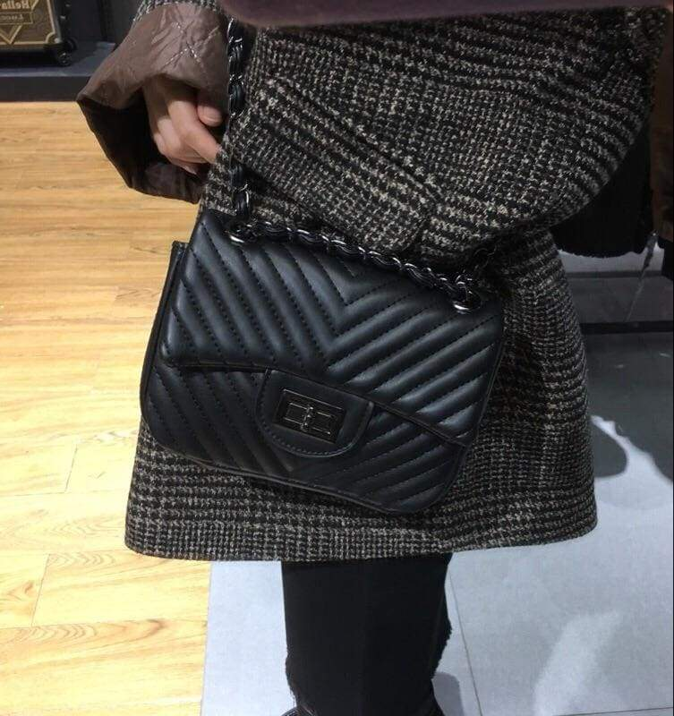 Chain Bag (Silver Black) - Lovely Madness
