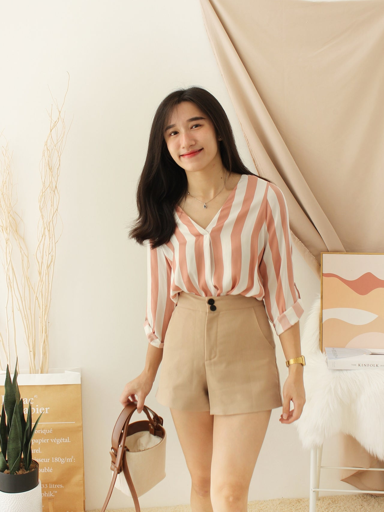 Stradivarius Stripy Blouse III