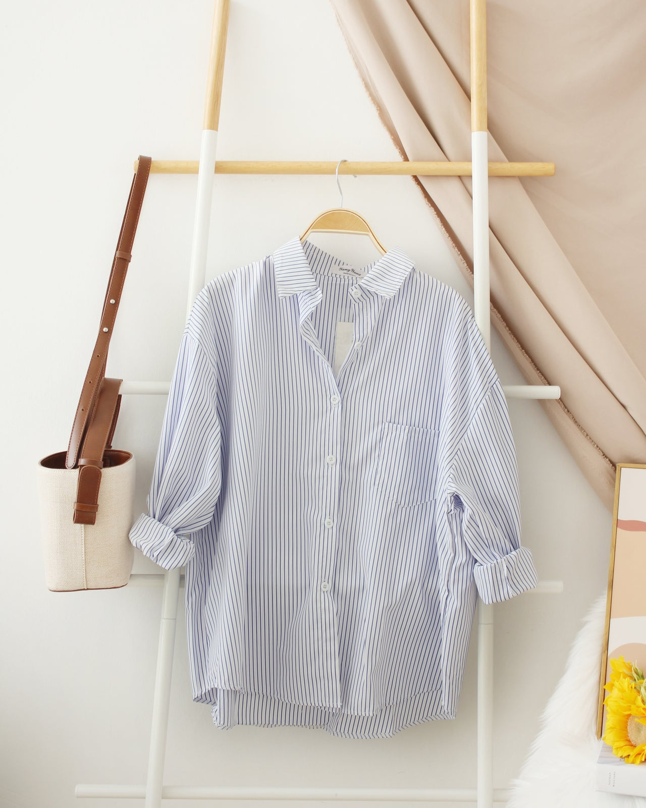 BAY Stripe Collar Blouse