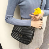 Chain Bag (Silver Black) - LovelyMadness Clothing Online Fashion Malaysia