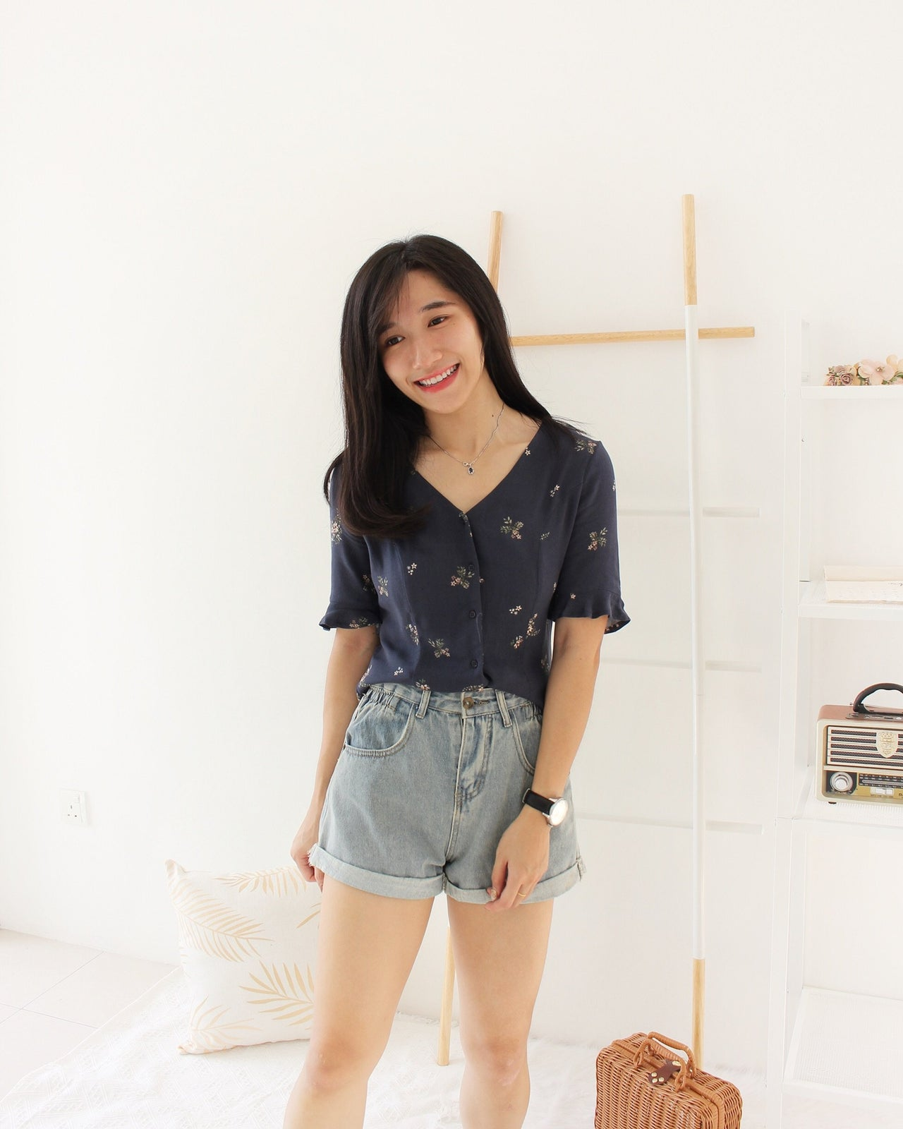 Elodie Floral Top - LovelyMadness Clothing Malaysia