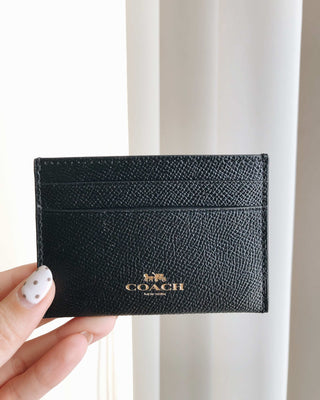 COACH CROSSGRAIN CARD CASE - Lovely Madness