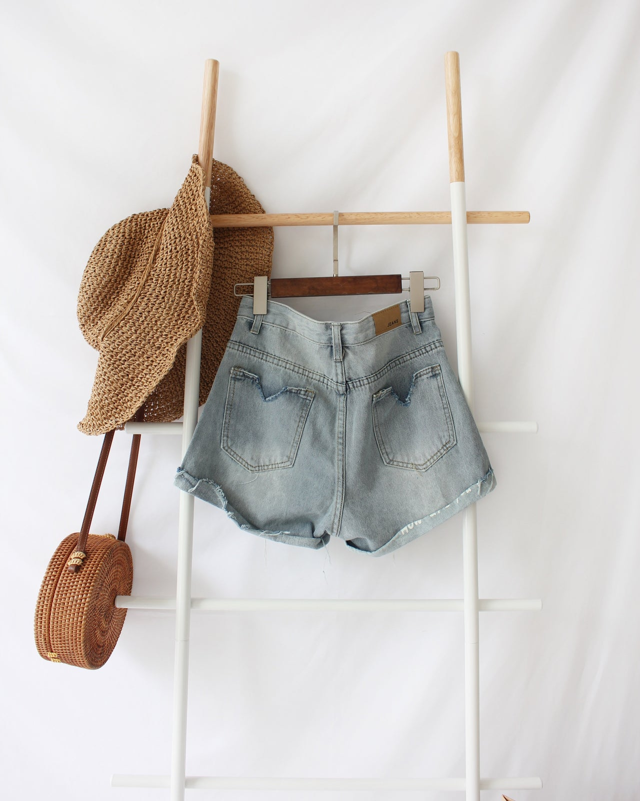 Denim High Waist Ripped Short - LovelyMadness Clothing Online Fashion Malaysia