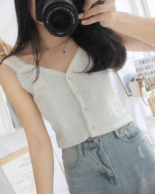 Lace Crochet Crop Tank - LovelyMadness Clothing Online Fashion Malaysia