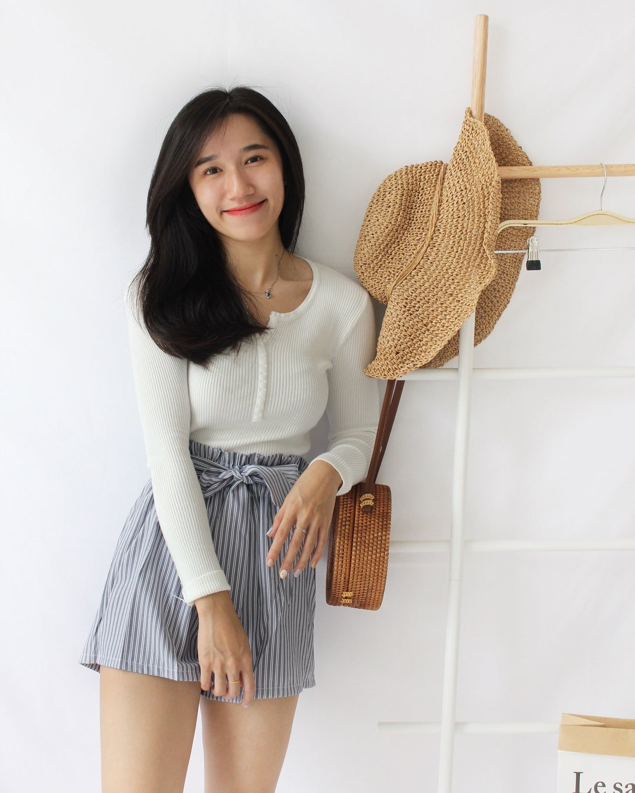 Ribbed Knitted Button Top - LovelyMadness Clothing Online Fashion Malaysia