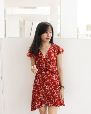 Summer Tulips Wrap Dress - LovelyMadness Clothing Online Fashion Malaysia