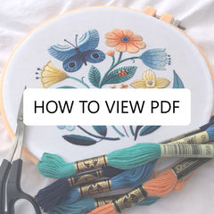 How to view a PDF pattern