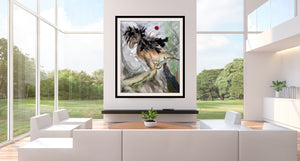resin, art, mixed media, geode, horse painting, angel painting