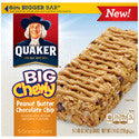 Quaker Chewy Big Chewy Peanut Butter Chocolate Chip 6oz