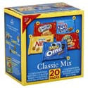 Nabisco Classic Mix--Oreo, Ritz Bits, Chips Ahoy, and Nutter Butter 20-1oz pkg