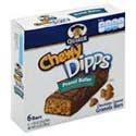 Quacker Chewy Dipps Granola Bars Peanut Butter 6 ct
