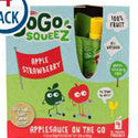 Materne GoGo Squeeze Apple Strawberry Applesauce on the Go 4pk
