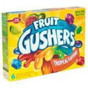 Betty Crocker Fruit Gushers Tropical Flavors 6ct
