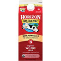 Horizon Organic Milk Whole with DHA Omega-3 1/2 gal