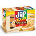 Jif Peanut Butter To Go Natural Creamy 8ct