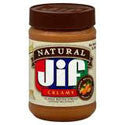 Jif Natural Creamy Peanut Butter 16oz